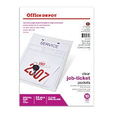 Office Depot Brand Job Ticket Holders