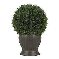 Nearly Natural Cedar Ball Topiary Plant