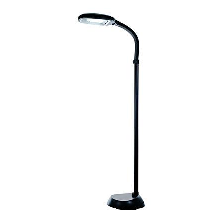lavish home sunlight floor lamp 64 h black shadebase by office depot. Black Bedroom Furniture Sets. Home Design Ideas
