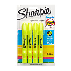 Sharpie Gel Highlighters Fluorescent Yellow Pack