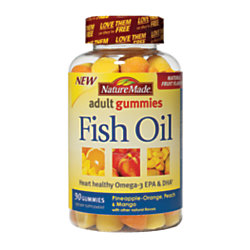 Nature made fish oil adult gummies by office depot officemax for Nature made fish oil gummies