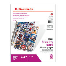 Office Depot Brand Trading Card Binder
