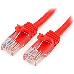 StarTechcom 15 ft Red Snagless Cat5e
