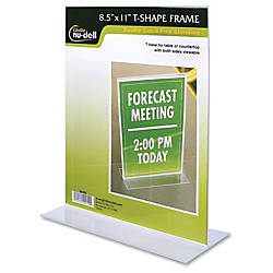 NuDell Acrylic Standing Sign Holder 8