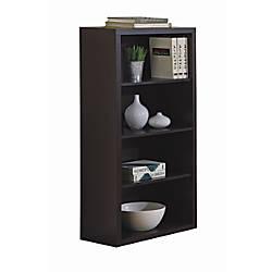 Monarch 3 Shelf Bookcase Cappuccino