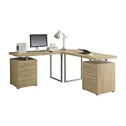 Monarch Specialties L Shaped Desk Set