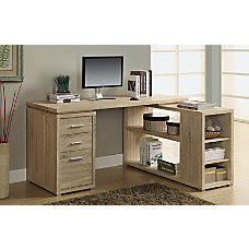 Monarch Specialties L Shaped Fiberboard Computer