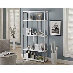 Monarch Specialties Etagere 4 Shelf Bookcase