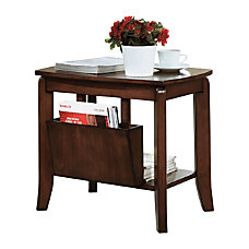 Monarch Specialties Solid Top Magazine Table
