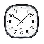 TEMPUS Wide Profile Square Clock Black