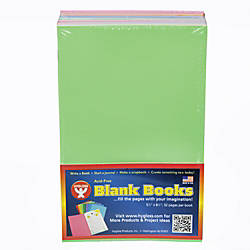 Hygloss Mighty Brights Blank Paperback Books