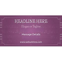 Custom Horizontal Banner Musical Notes