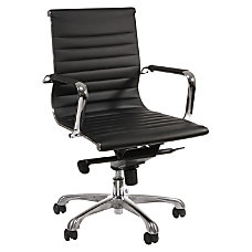 Lorell Modern Mid Back Leather Chair