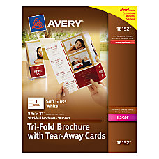 Avery Tri Fold Brochures With Tear