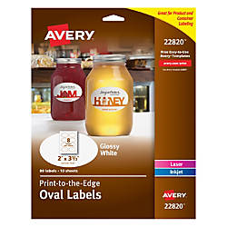 Avery Easy Peel InkjetLaser Glossy White