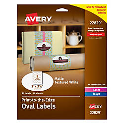 Avery Easy Peel InkjetLaser Textured White
