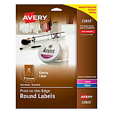 Avery Easy Peel InkjetLaser Glossy Clear