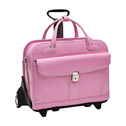 McKleinUSA Lakewood Leather Ladies Briefcase Pink