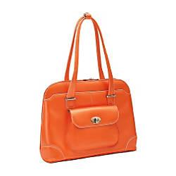 McKleinUSA Avon Leather Ladies Briefcase Orange
