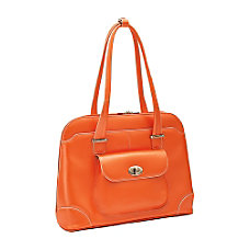 McKleinUSA Avon Leather Ladies Briefcase Orange