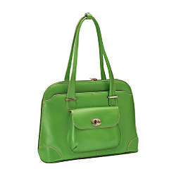McKleinUSA Avon Leather Ladies Briefcase Green