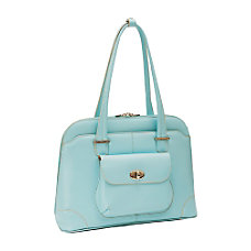 McKleinUSA Avon Leather Ladies Briefcase Aqua