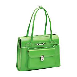 McKleinUSA Wenonah Leather Ladies Briefcase Green