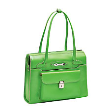 McKleinUSA Wenonah Leather Ladies Briefcase Green