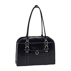 McKleinUSA Hillside Leather Ladies Briefcase Black