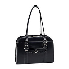 McKleinUSA Hillside Leather Ladies Briefcase Black