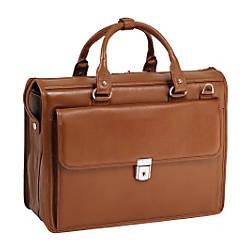 McKleinUSA Gresham Leather Briefcase Brown