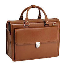McKleinUSA Gresham Leather Briefcase Brown