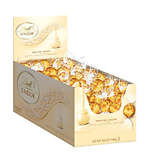Lindt Lindor White Chocolate Truffles Box