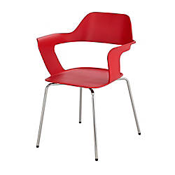 Safco Bandi Shell Stacking Chairs RedSilver