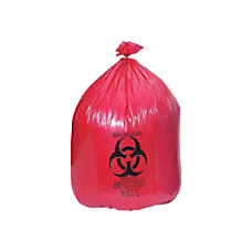Medline High Density Biohazard Liners 45