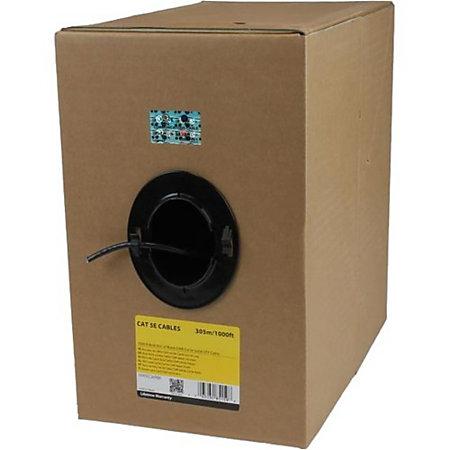 1000 ft bulk roll of black cmr cat5e solid
