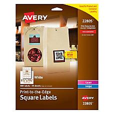 Avery Easy Peel TrueBlock InkjetLaser Matte