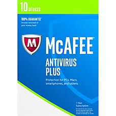 McAfee AntiVirus 2017 For 10 Devices