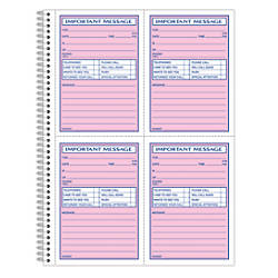 Telephone Message Pads & Voicemail Log Books At Office Depot
