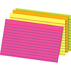 Office Depot Brand Glow Index Cards