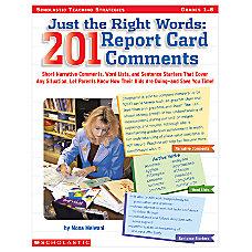 Scholastic Report Card Comments
