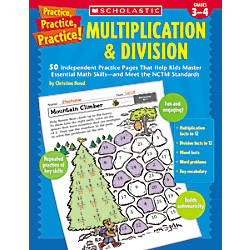 Scholastic Multiplication Division Practice Pages
