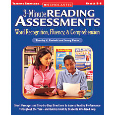 Scholastic Reading Assessment Grades 5 8