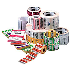 Zebra Label Paper 225 x 075in