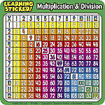 Scholastic Reinforcement Stickers MultiplicationDivision 4 x