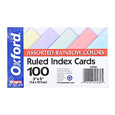 Office Depot Brand Index Cards Ruled