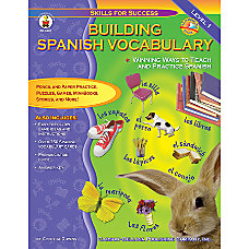Carson Dellosa Building Spanish Vocabulary
