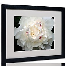 Trademark Global Perfect Peony Matted Framed