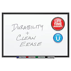 Quartet DuraMax Porcelain Magnetic Whiteboard Black