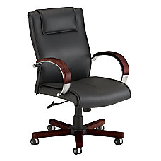 OFM Apex Mid Back Leather Chair